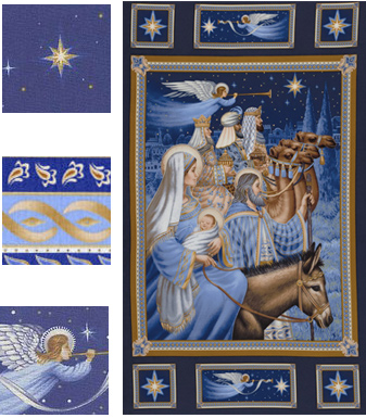 Nativity Panel and other fabrics