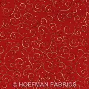HF_F2075_5G gold metallic on red